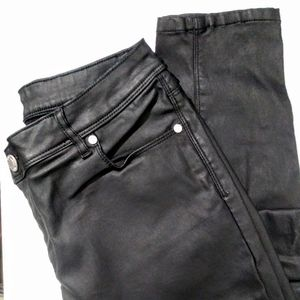 Like New Simply Vera Faux Leather Jeans